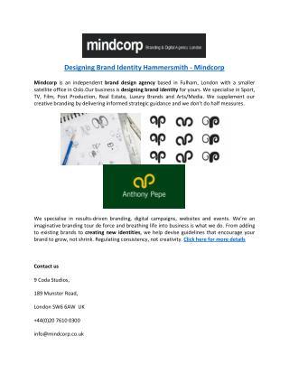 Designing Brand Identity Hammersmith - Mindcorp