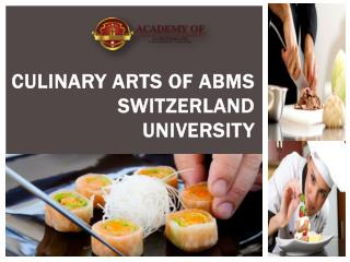 Culinary Arts of Abms Switzerland University