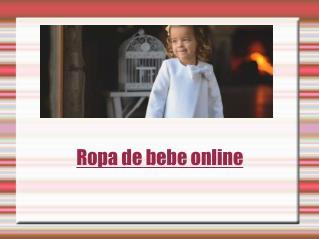 Ropa de bebe online