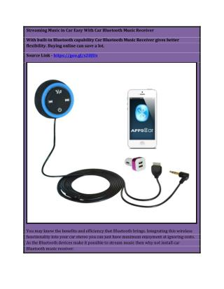 Streaming Music in Car Easy With Car Bluetooth Music Receiver