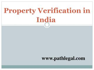 Property Verification in India