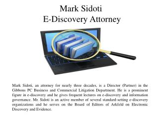Mark Sidoti- E-Discovery Attorney