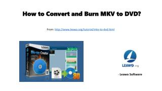 How to convert and burn mkv to dvd