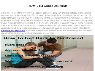 Best Ways Of How To Get Back Ex Girlfriend