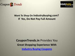 indusrty buying coupons