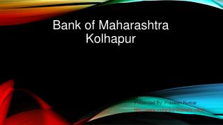 Bank of Maharashtra in Kolhapur