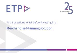 Investing in Merchandise Planning - Top 5 Questions to ask