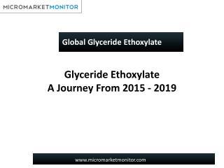 Global Glyceride Ethoxylate Market
