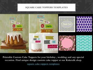 Square Cake Toppers Templates