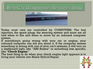 Best Car Diagnostics Services Shop