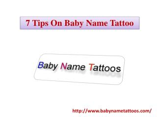 7 Tips On Baby Name Tattoo