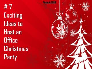 Exciting Ideas to Host an Office Christmas Party