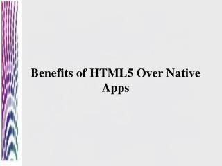 HTML5 wins the battle over native apps