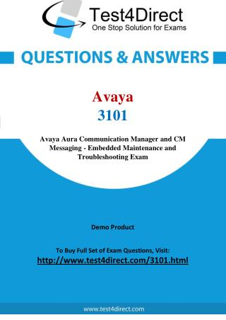 Avaya 3101 ACSS Real Exam Questions