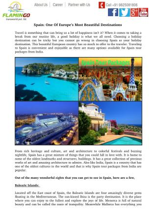 Spain: One Of Europe�s Most Beautiful Destinations