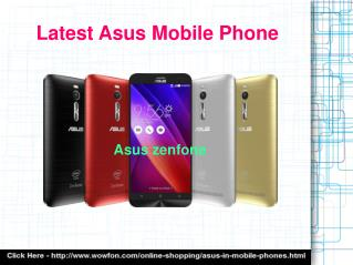Upcoming Asus Mobile Phones
