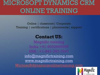 Microsoft Dynamics CRM Online Training in Dubaii