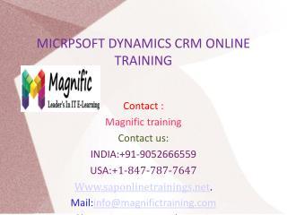 Microsoft Dynamics CRM Online Training in UK