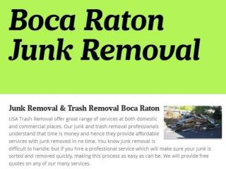 Boca Raton Junk & Rubbish Removal
