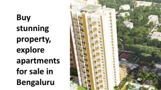 Buy stunning property, explore apartments for sale in Bengaluru