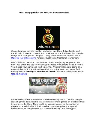 online casino malaysia, online live casino malaysia, toto 4d malaysia, 4d results, LiveOnline CasinoGames, MalaysiaLi