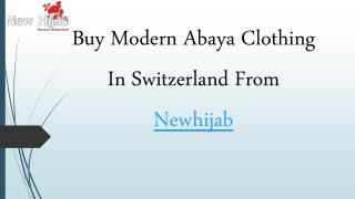 Buy Modern Abaya Clothing In Switzerland From Newhijab