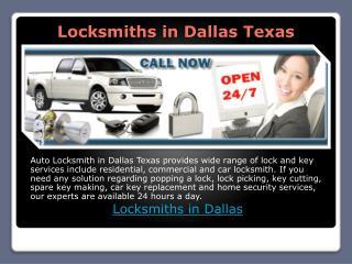Loksmiths in Dallas Texas