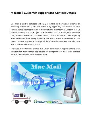 Mac mail Customer Support and Contact Details
