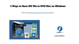 3 ways to burn iso file to dvd disc on windows