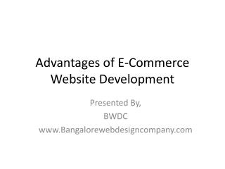 Advantages of E-Commerce Website Development