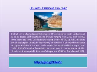 LEH WITH PANGONG 03 N / 04 D