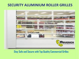 Security Aluminium Roller Grilles