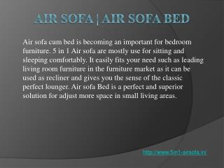 Air Sofa Bed