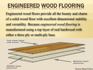 Engineered wood flooring or Engineered oak flooring