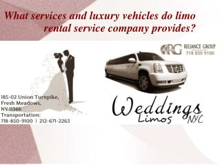 Reliance Limousine provides limo rental services in Brooklyn, New York.