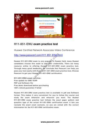 Huawei H11-851-ENU exam practice test