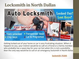 Locksmith in North Dallas