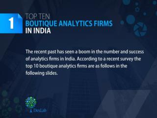 Best Analytics Companies in India | Dexlab Analytics