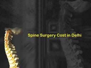 Find Spine surgery cost In Delhi