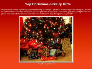 Top Christmas Jewelry Gifts