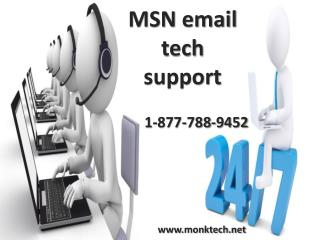Call MSN email support 1-877-788-9452 tollfree for email support
