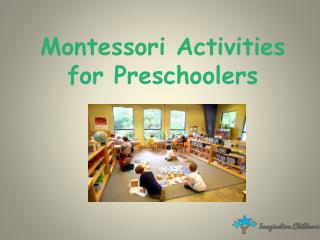 Montessori Activities For Preschoolers