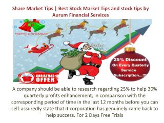 Share Market Tips | Best Stock Market Tips and stock tips by Aurum Financial Services
