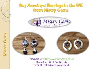 Mistry Gems Presents Amethyst Earrings in the UK