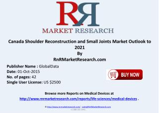 Canada Shoulder Reconstruction and Small Joints Market Outlook to 2021