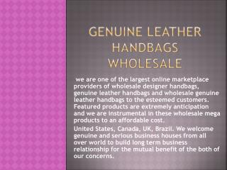 Genuine Leather Handbags Wholesale