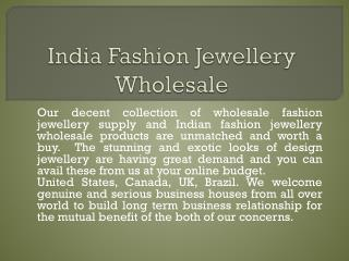Wholesale Fashion Jewellery Supply
