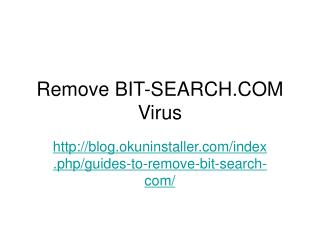 Remove BIT-SEARCH.COM Virus