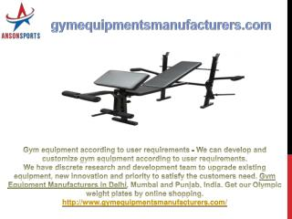 Gym Equipment Manufacturers in Delhi