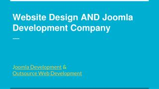 Website Design AND Joomla Development Company